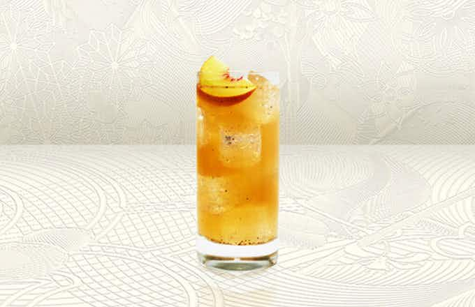 Peppered Peach Tree Tom Collins