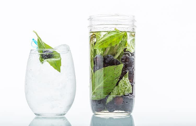 Blueberry & Basil Infused Moonshine